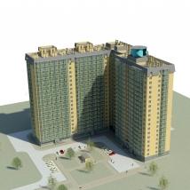 Energy-efficient residential building in Tomsk